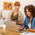 two businesswoman working together stock photo © iko