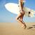 güzel · kadın · çalışma · ıslak · kum · plaj · güzel - stok fotoğraf © iko