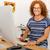 kobiet · wykonawczej · pracy · graficzne · tabletka · biurko - zdjęcia stock © iko