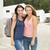 dos · hermosa · estudiantes · feliz · mujeres - foto stock © iko