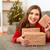 vrouw · christmas · geschenken · boom · gelukkig - stockfoto © iko