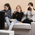 três · mulheres · jovens · assistindo · filme · sessão - foto stock © iko
