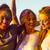gelukkig · meisjes · handen · verf · geïsoleerd · witte - stockfoto © iko
