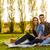 picknick · romantische · paar · voorjaar · natuur - stockfoto © iko