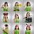 cute · meisje · portretten · mozaiek · verschillend · meisje - stockfoto © iko