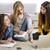 weiblichen · College · Studenten · arbeiten · Hausaufgaben · drei - stock foto © iko