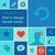közösségi · média · kék · infografika · elemek · lineáris · társasági - stock fotó © ikopylov