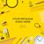 colorful school supplies yellow background stock photo © ikopylov