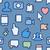 seamless pattern with social media icons stock photo © ikopylov