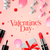 valentines day greeting card with gift box cosmetics lipstick nail and rose flower petals vecto stock photo © ikopylov