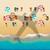 szépség · utazás · lányok · nő · tengerpart · égbolt - stock fotó © ikopylov