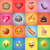 set of emoticons emoji colorful background stock photo © ikopylov