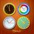 klok · variatie · vector · vier · kleurrijk · tijd - stockfoto © ikopylov