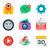 fundamenteel · web · icon · ingesteld · retro · kleur · vierkante - stockfoto © ikopylov