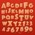 pão · de · especiarias · hortelã-pimenta · fonte · bolinhos · alfabeto - foto stock © ikopylov