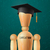 education design wooden dummy in the mortarboard stock photo © ikopylov