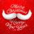 santas moustache merry christmas and happy new year stock photo © ikopylov