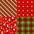 conjunto · natal · padrões · papel · árvore · festa - foto stock © iktash