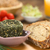 Сыр · из · козьего · молока · травы · хлеб · покрытый · чаши - Сток-фото © ildi