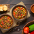 ensopado · servido · branco · tigela · pão · comida - foto stock © ildi