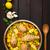 スペイン料理 · エビ · コメ · クローズアップ · 食品 · 緑 - ストックフォト © ildi