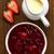 Rood · bes · dessert · vla · pudding · aardbei - stockfoto © ildi