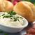 queijo · fatias · picado · alho-porro · comida · pão - foto stock © ildi