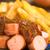 fast · food · geserveerd · plaat · selectieve · aandacht · focus - stockfoto © ildi