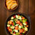 zwarte · olijven · gedroogd · tomaten · kom · witte · plantaardige - stockfoto © ildi