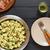 groene · salade · kaas · slasaus · voedsel - stockfoto © ildi