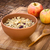 cuchara · de · madera · tazón · tradicional · blanco · fondo - foto stock © ildi