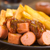 fast · food · geserveerd · plaat · vork · selectieve · aandacht - stockfoto © ildi