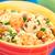 couscous with shrimp mushroom almond and pomegranate stock photo © ildi