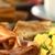 amerikaanse · ontbijt · spek · ei · koffie · beker - stockfoto © ildi