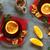 ホット · ワイン · オレンジスライス · アニス · 孤立した · 白 - ストックフォト © ildi