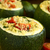 Baked Stuffed Round Zucchini stock photo © ildi
