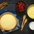 raw semolina semolina pudding milk cooked strawberry stock photo © ildi