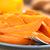 batata · azúcar · moreno · frescos · jugo · de · naranja · tenedor · placa - foto stock © ildi