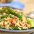 espárragos · vegetariano · plato · verde · rojo - foto stock © ildi