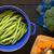 friss · zöldbab · sötét · fából · készült · rusztikus · háttér - stock fotó © ildi