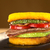 Burger · frit · courgettes · lard · boeuf · tomate - photo stock © ildi