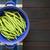 friss · zöldbab · vágódeszka · étel · csoport · fehér - stock fotó © ildi