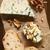 ブルーチーズ · スライス · 赤ワイン · 木製のテーブル · 食品 · ガラス - ストックフォト © ildi