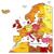 карта · Польша · желтый · линия · вектора · изолированный - Сток-фото © ildogesto