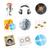 fejhallgató · hangfalak · ikonok · háló · fül · zenész - stock fotó © ildogesto