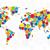 world map of colorful bubbles stock photo © ildogesto