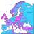 cyan and violet map of europe stock photo © ildogesto