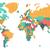 пунктирный · Мир · карта · синий · карта · аннотация · земле - Сток-фото © ildogesto