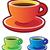 colorful icons coffee cups stock photo © ildogesto