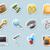 iconen · persoonlijke · ontwerp · groene · Blauw · notebook - stockfoto © ildogesto